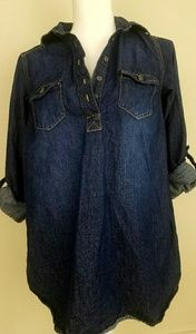 Liz lange maternity denim shirt women xs